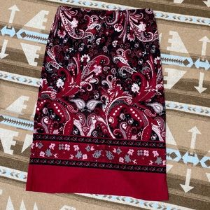 Black & Red floral skirt